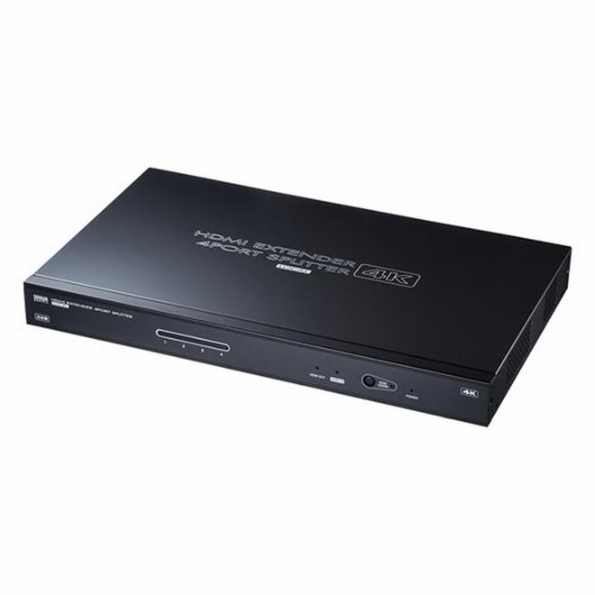 【メーカー直送】サンワサプライ HDMIエクステンダー(送信機・4分配)[VGA-EXHDLTL4]【送料無料※沖縄・離島は配送不可】ディスプレイ出力 モニター出力 プロジェクター出力 LANケーブル HDMI延長 4K対応