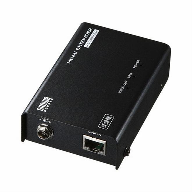 サンワサプライ HDMIエクステンダー(受信機)[VGA-EXHDLTR]【送料無料※沖縄・離島除く】ディスプレイ出力 モニター出力 プロジェクター出力 LANケーブル HDMI延長 4K対応