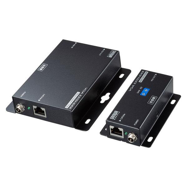 サンワサプライ ディスプレイエクステンダー(セットモデル) [VGA-EXSET2N]【送料無料※沖縄・離島除く】VGA出力 ディスプレイ プロジェクター ミニD-sub ウォールマウント 壁面取り付け