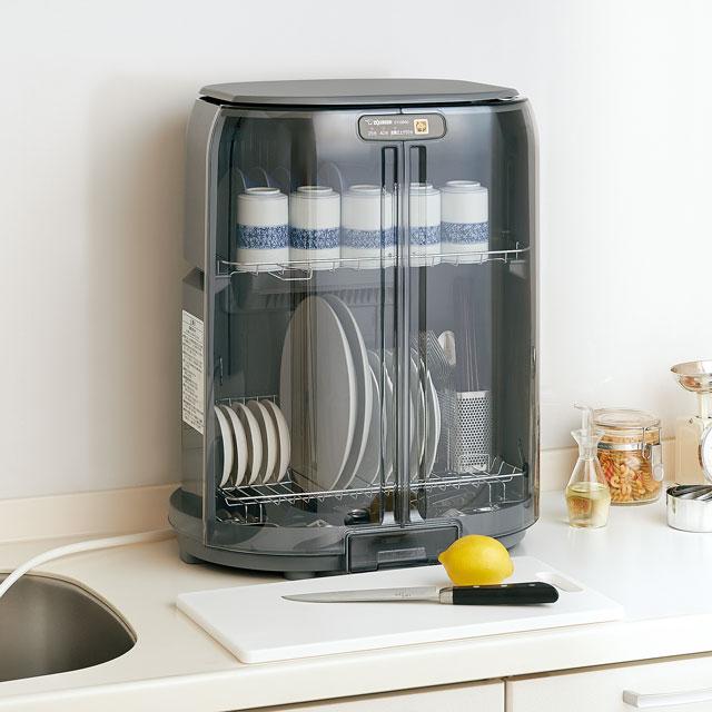 象印 食器乾燥器 省スペース・たて型 標準食器5人分 ロング排水ホースつき グレー [EY-GB50-HA]【送料無料※沖縄・離島除く】食器乾燥機