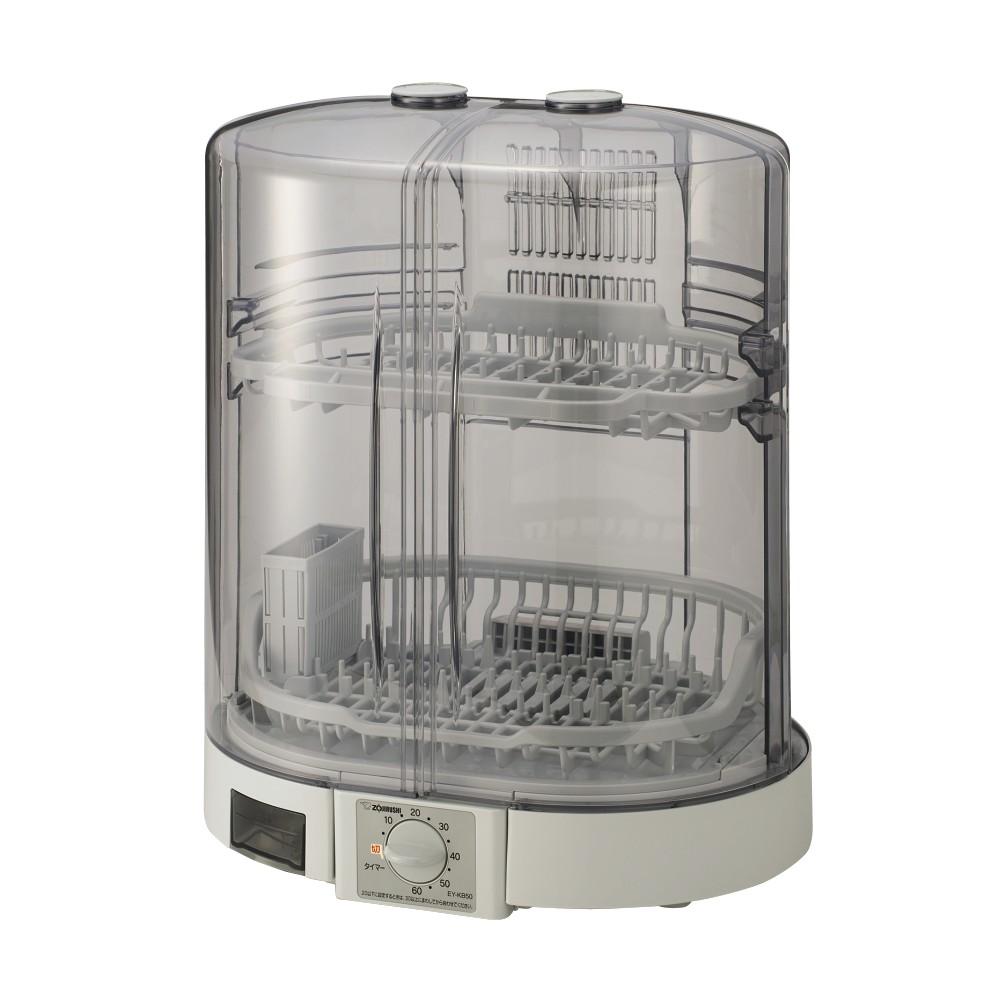 象印 食器乾燥器 省スペース・たて型 標準食器5人分 ロング排水ホースつき グレー [EY-KB50-HA]【送料無料※沖縄・離島除く】食器乾燥機