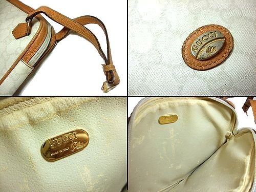 b20f9fe40ec vintage old GUCCI vintage old Gucci ITALY classical music monogram second  bag (bag bag) 039594
