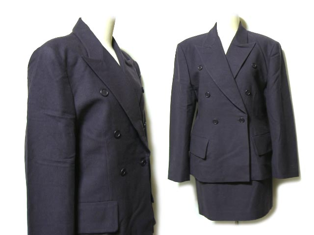 HELMUT LANG ヘルムートラング クラシック セットアップスーツ (ダブルブレストジャケット スカート) 045038 【中古】