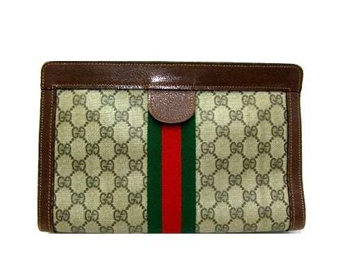 9f5dfe52f19 Vintage old GUCCI classical music monogram way Bing second bag (vintage old  Gucci) 045282