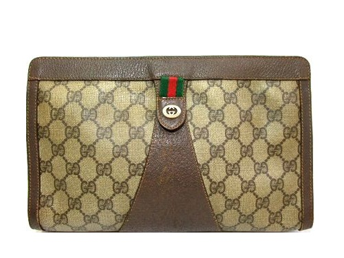 891d5702e8c vintage old GUCCI vintage old Gucci ITALY monogram way Bing ribbon clutch  second bag (bag bag) 047185