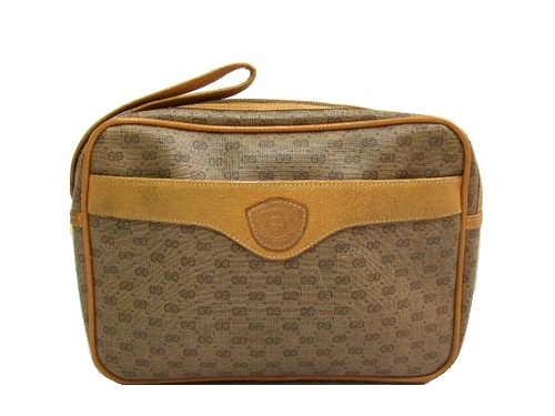 b45d0dba1dd vintage old GUCCI ITALY classical music micro monogram second bag (vintage  old Gucci) 048006