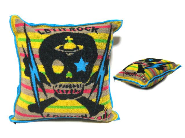 【新古品】 限定 Vivienne Westwood レットイットロック スカルクッション (ヴィヴィアンウエストウッド) 052124 【中古】