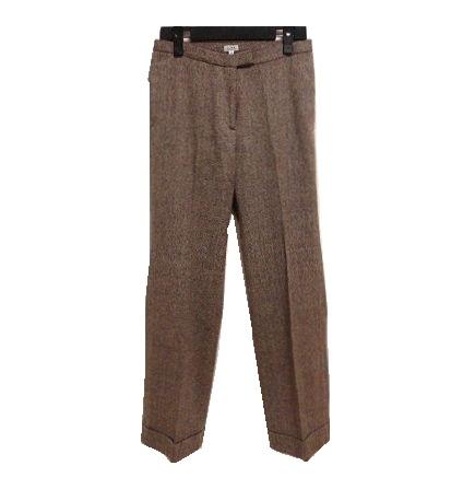 超人気 \3980以上購入で 業界No.1 送料無料 IENA 38 クラシックツイードテーラードパンツ Classic tweed 中古 tailored イエナ collar 052428 underwear スラックス
