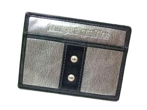 廃盤 Jean Paul GAULTIER ジャンポールゴルチエ メタルレザーパスケース カードケース (ゴルチェ オム 皮革小物) 054405 【中古】