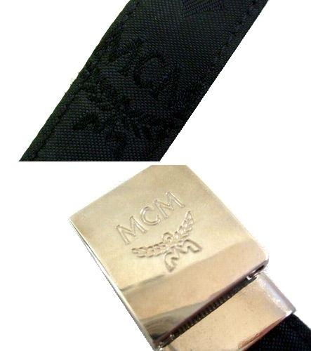 老式旧 MCM 复古旧 emciem 会标皮革手链 (年份) 054776