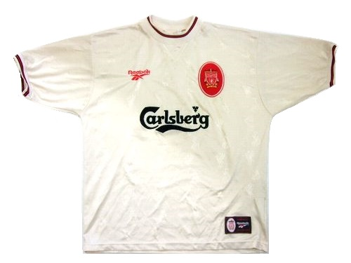 96-'97 vintage Reebok 英国製 リバプール 「アウェイ」 ゲームシャツ (ヴィンテージ リーボック) 055314 【中古】