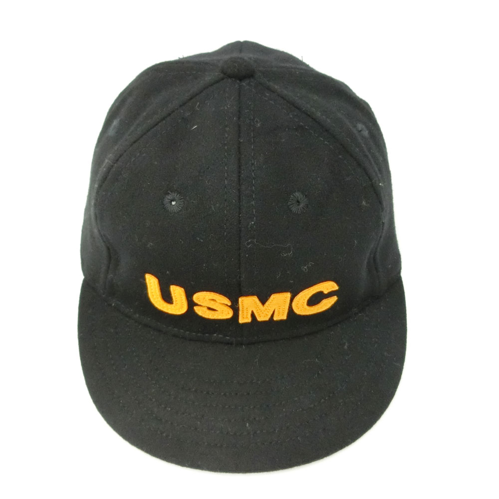 f0be3e6af8 COOPERSTOWN BALL CAP Co. Cooperstown ball cap 1922 black USMC felt logo hat  (the Marines) 056315