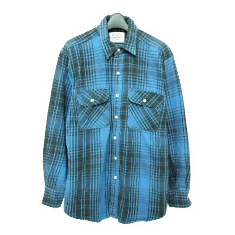 vintage Levi's리바이스 OUTDOOR 「M」미국제 ALASKA SHIRTS 체크 네루 셔츠(아웃도어) 057289