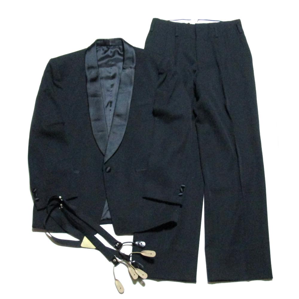 D/SGU/SE 「M」 クラシックタキシードセットアップスーツ サスペンダーベルト付 (ジャケット パンツ) 060338 【中古】