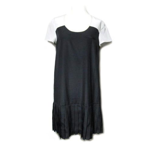 【未使用】 Alexander Wang×UNIQLO 「M」 プリーツ切替ドレス・ワンピース (switching pleats dress) アレキサンダー ワン 060838 【中古】
