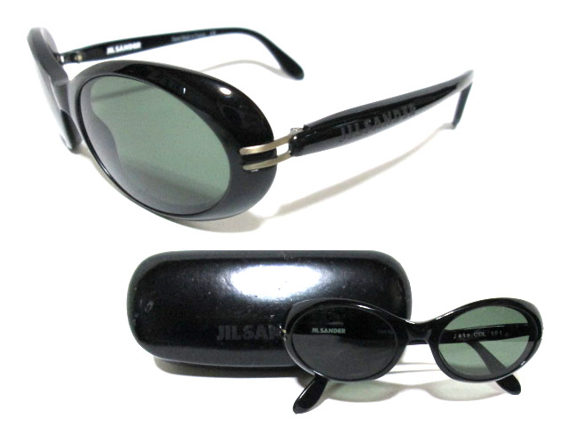 JIL SANDER ジルサンダー フランス製 セルロイド フレーム オーバルサングラス (眼鏡) 063235 【中古】
