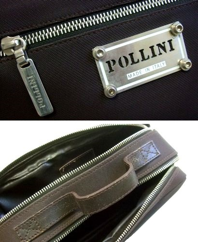 POLLINI 포리니 ITALY 이탈리아제 메탈 플레이트 가방(핸드 세컨드 클러치 공허가방 가방) 065599