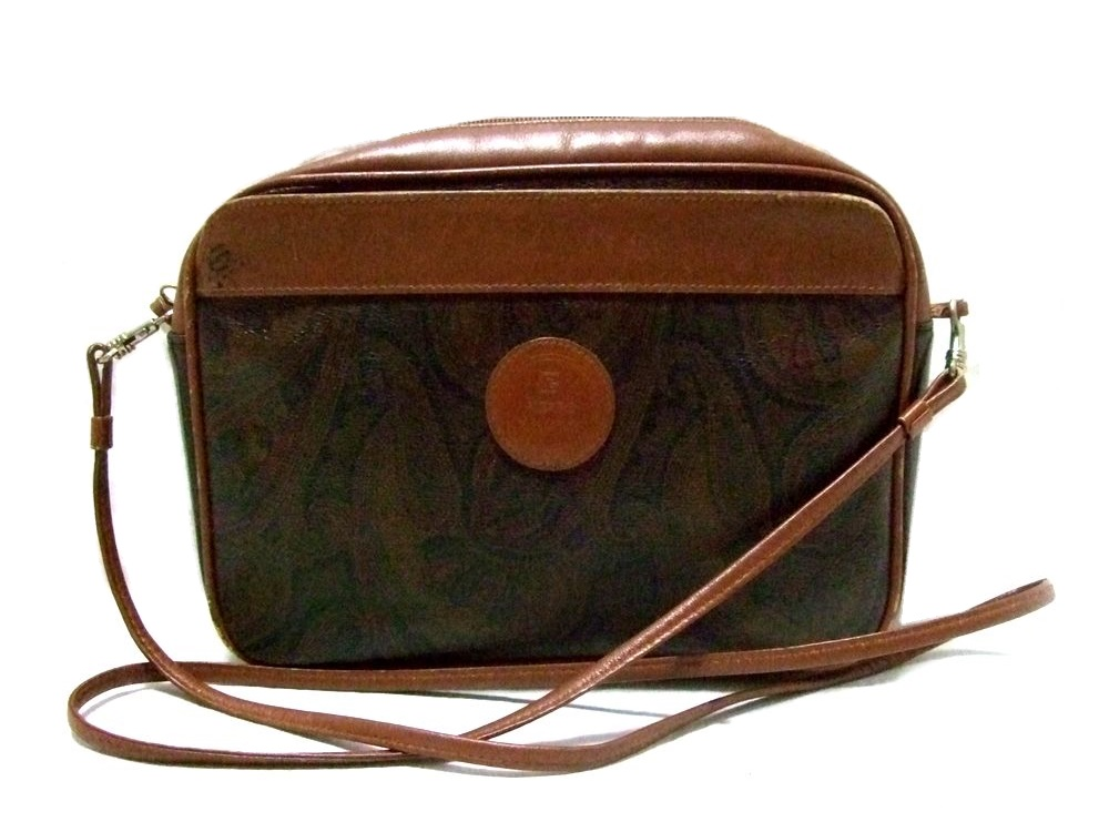 Vintage Old Pierre Balmain Barman Paisley Shoulder Bag 068134