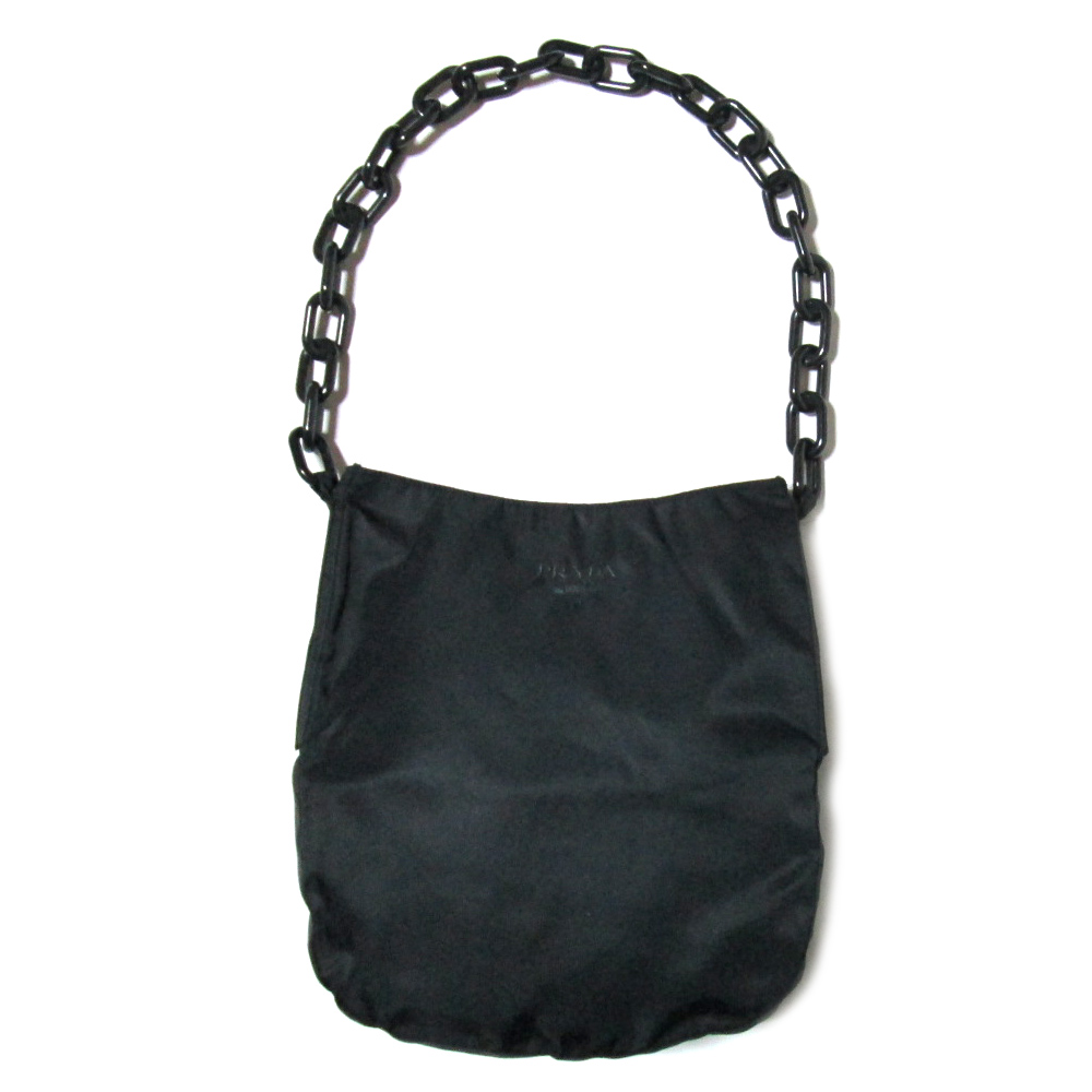 Vintage old PRADA vintage old Prada ITALY made in Italy plastic chain  handle bag (bag bag) 071090