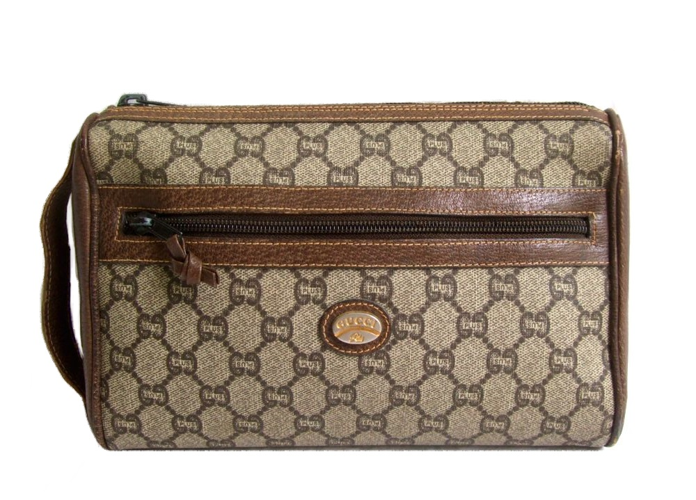 a94012799d9 Monogram clutch second bag (bag bag) made in vintage old GUCCI vintage old  Gucci Italy 071228