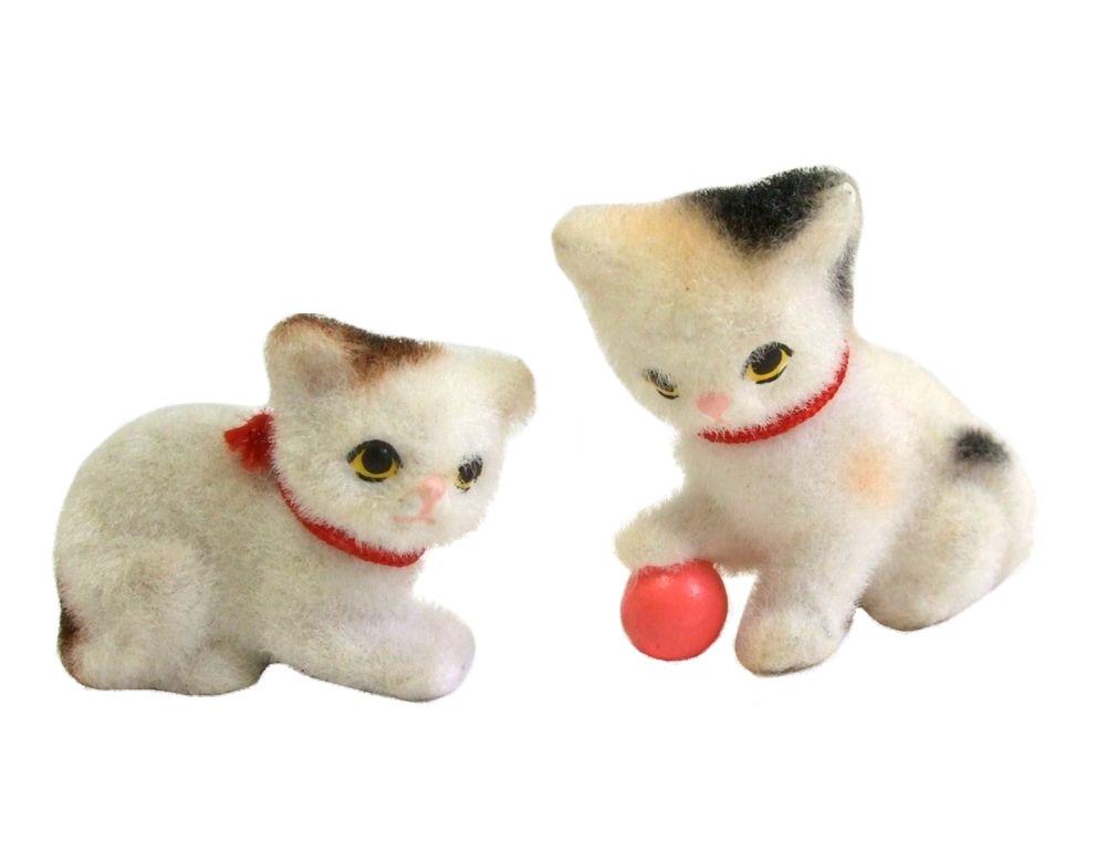 \3980以上購入で 選択 送料無料 70's vintage 2set 70年代 糸巻き 072674 子猫人形 ヴィンテージ 中古 Seasonal Wrap入荷