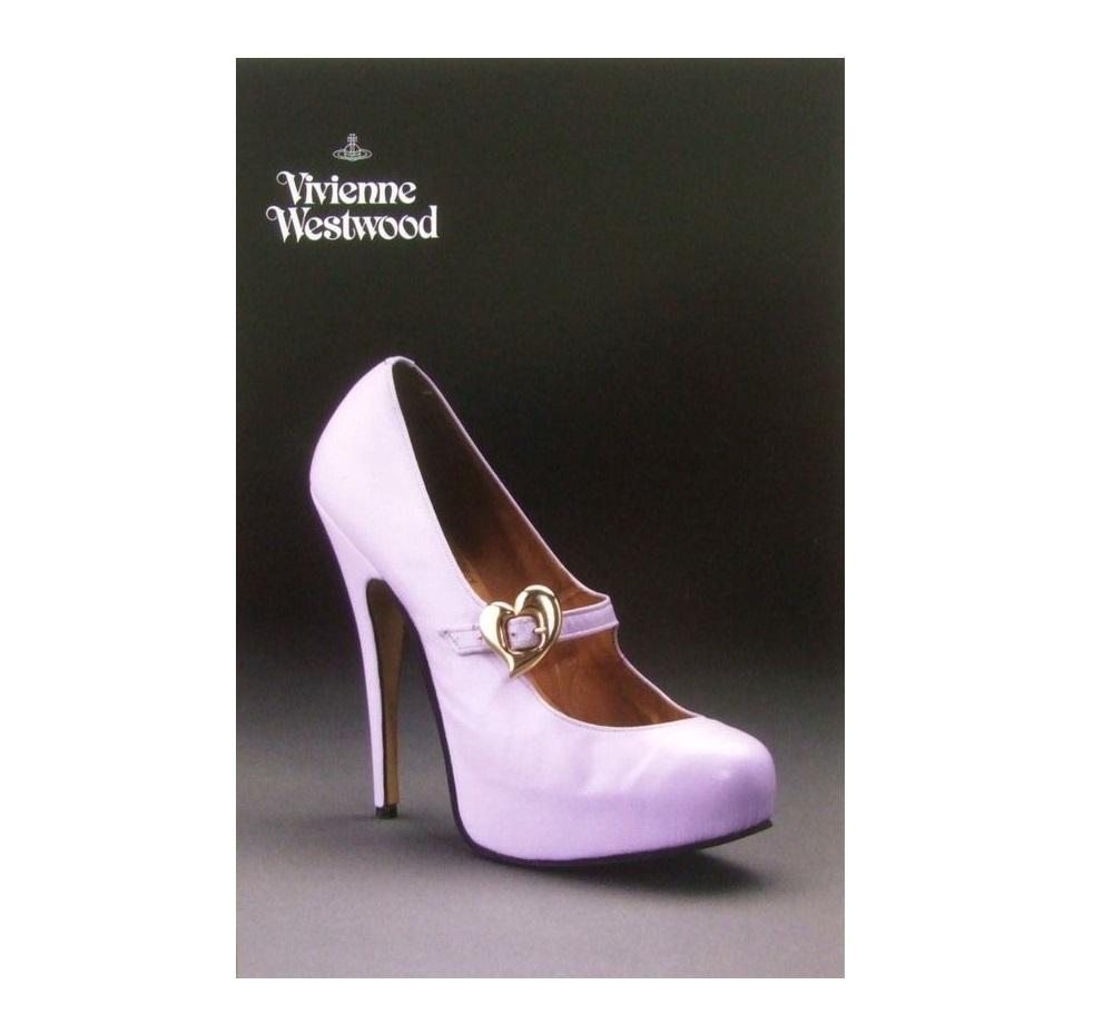 \3980以上購入で 送料無料 新品同様 廃盤 Vivienne Westwood ヴィヴィアンウエストウッド 075449 On Liberty 中古 シューズエキシビジョン限定 アウトレットセール 特集 '94AW ポストカード 激安
