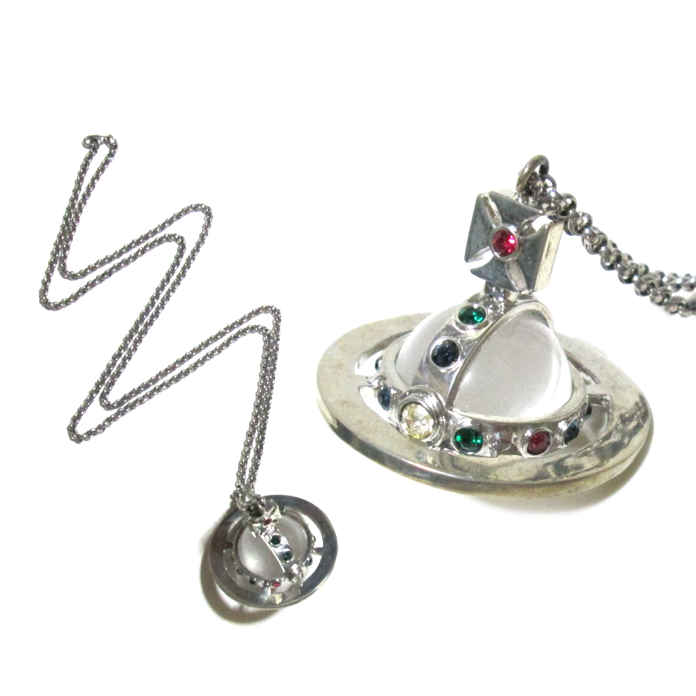 Crown store used brand clothing store rakuten global market out out of print vintage vivienne westwood vintage vivienne westwood silver big small orb pendant 076615 aloadofball Image collections