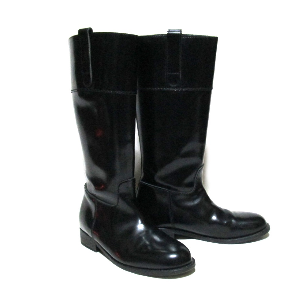 \3980以上購入で【送料無料】 JUNYA WATANABE COMME des GARCONS ジュンヤワタナベ コムデギャルソン 乗馬コードバーンブーツ (レザー皮革 ロング 靴) 077394 【中古】