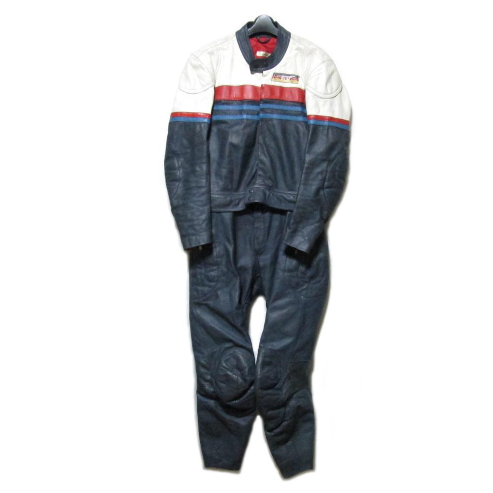 Vintage FLM ヴィンテージ 西ドイツ製 レザーライダージャンプスーツ (GREYHOUND FLM LEATHERS つなぎ オールインワン) 079223 【中古】