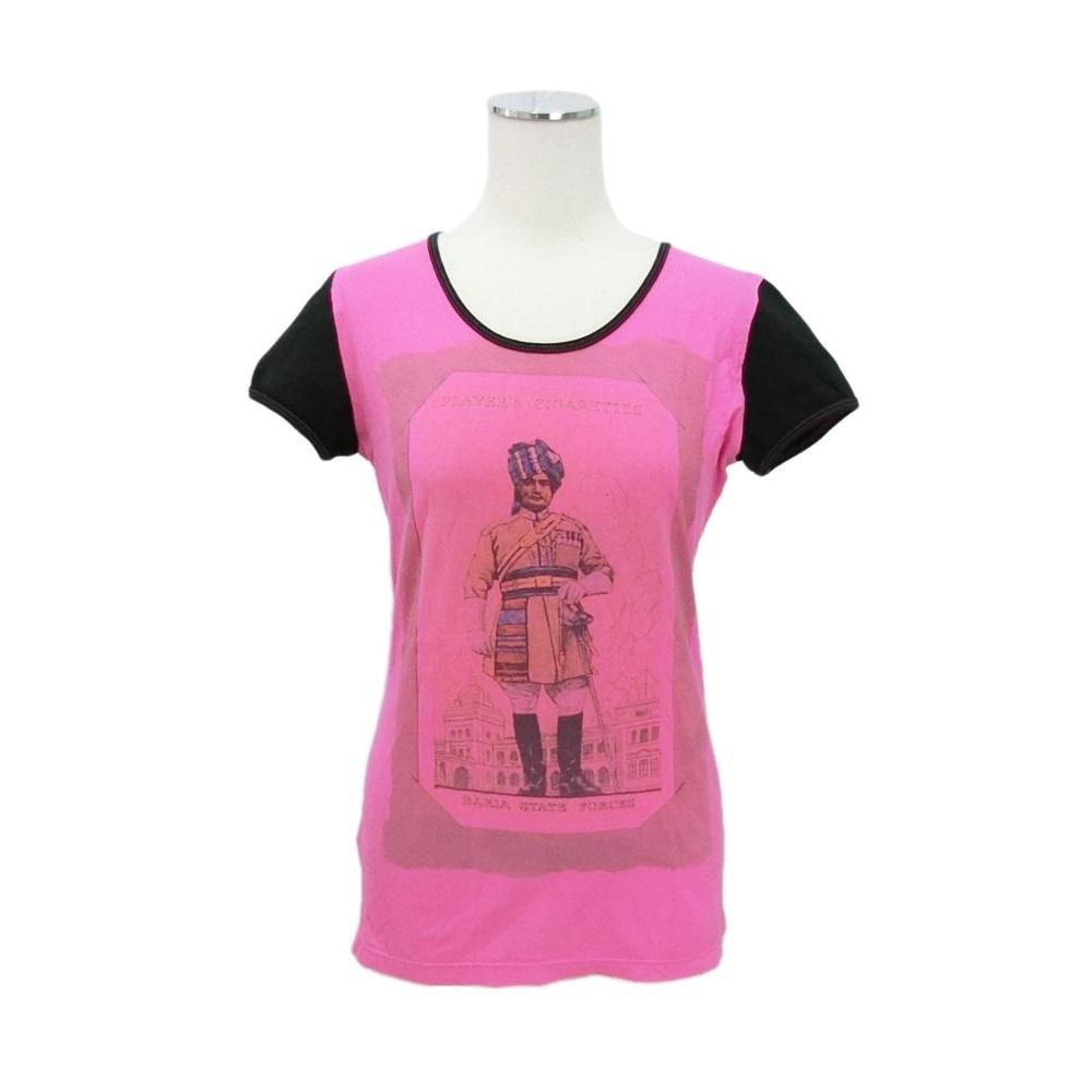 美品 Anglomania Vivienne Westwood アングロマニア ヴィヴィアンウエストウッド 「XS」 ITALY製 インド兵プリント Tシャツ 080080 【中古】
