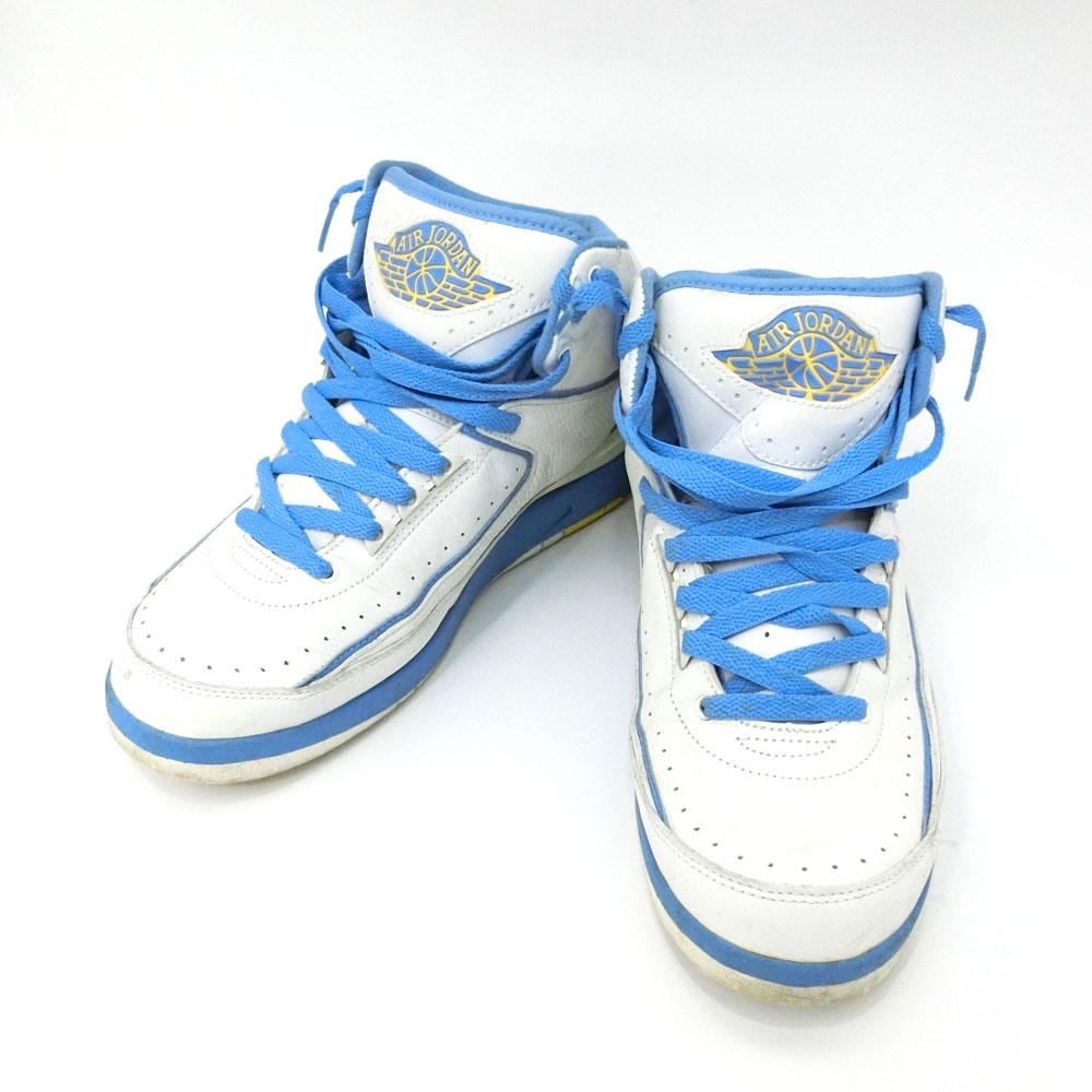 希少 NIKE AIR JORDAN 2 RETRO ナイキ エアジョーダン 2 レトロ 「9.5」 白×青 スニーカー (バスケットシューズ) 082087 【中古】