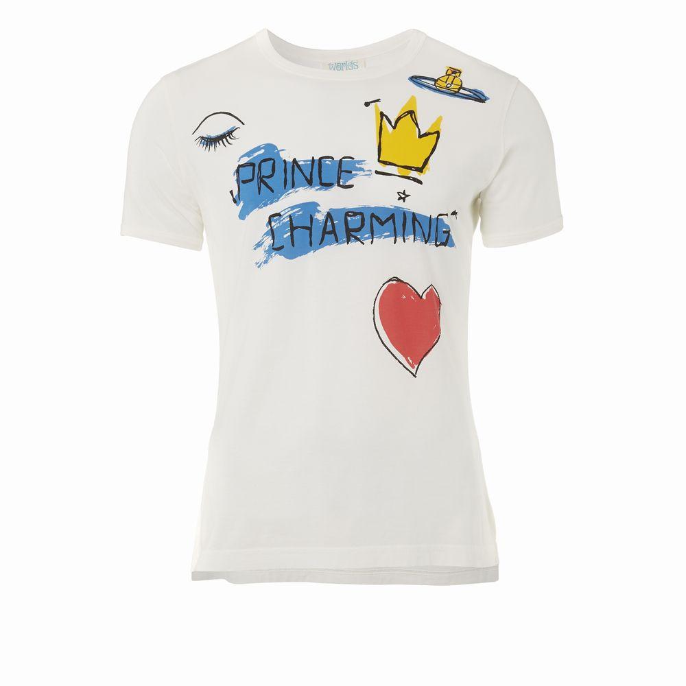【新古品】 Vivienne Westwood worlds end ヴィヴィアンウエストウッド ワールズエンド 限定 PRINCE CHARMING Tシャツ (MAN マン) 082673 【中古】