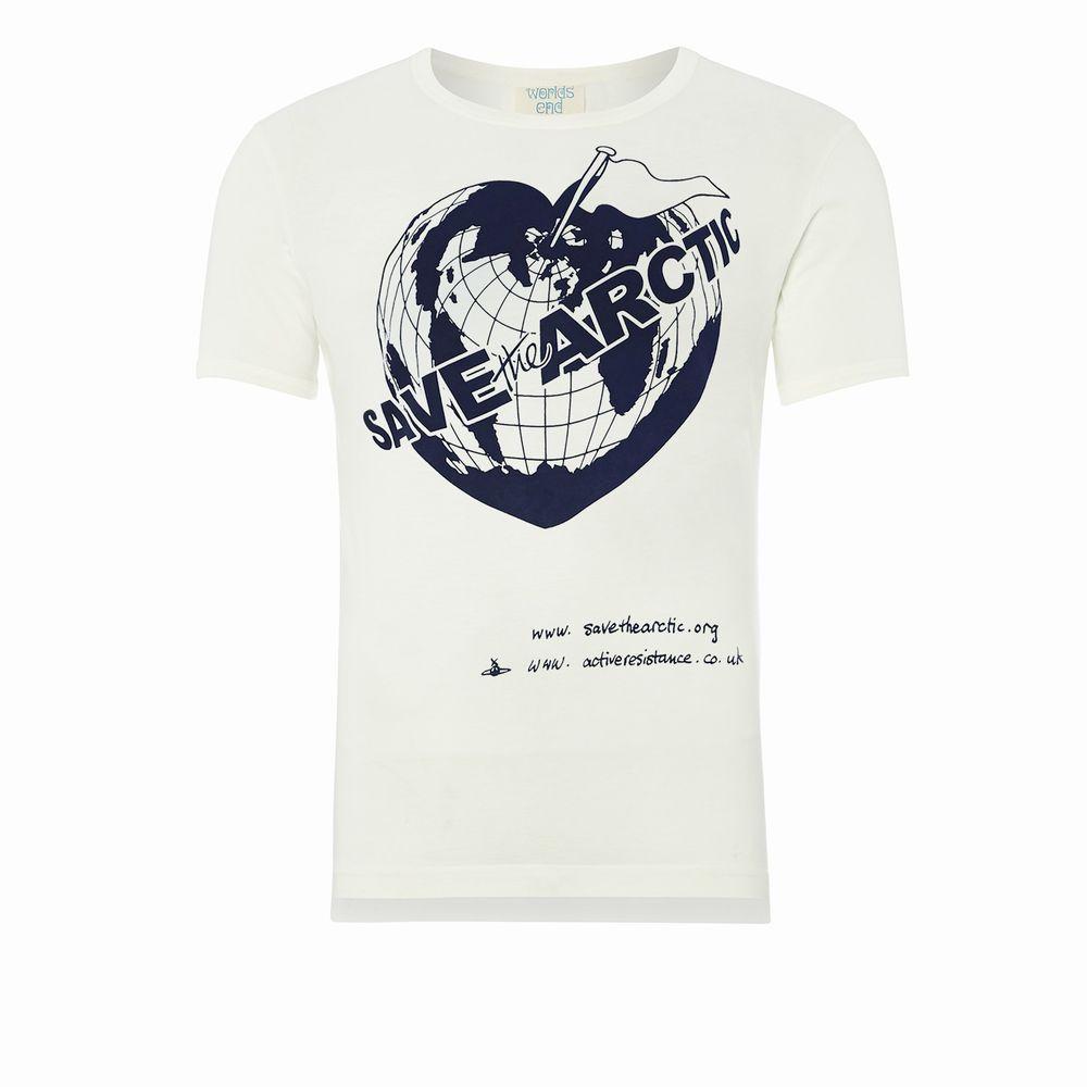 【新古品】 Vivienne Westwood worlds end ヴィヴィアンウエストウッド ワールズエンド 限定 SAVE the ARCTIC Tシャツ (MAN マン) 082675 【中古】