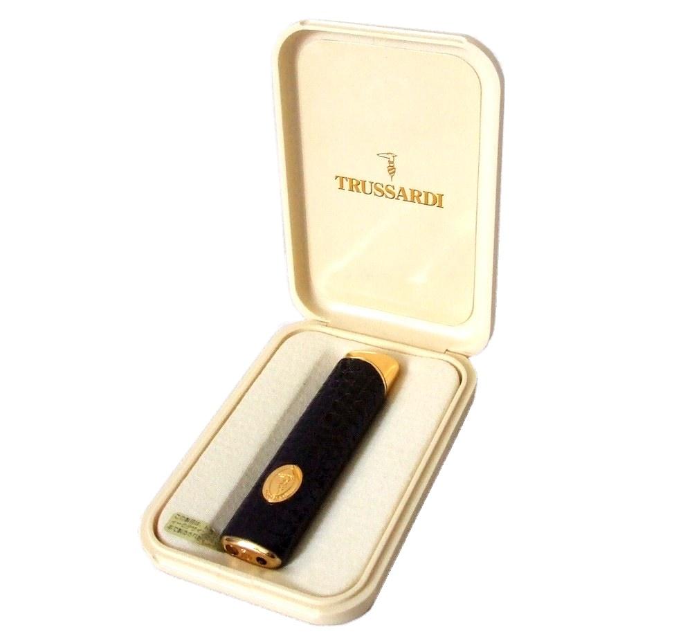vintage TRUSSARDI 호랑이 원숭이 디 가죽 권가스 라이터(흡연도구) 082974
