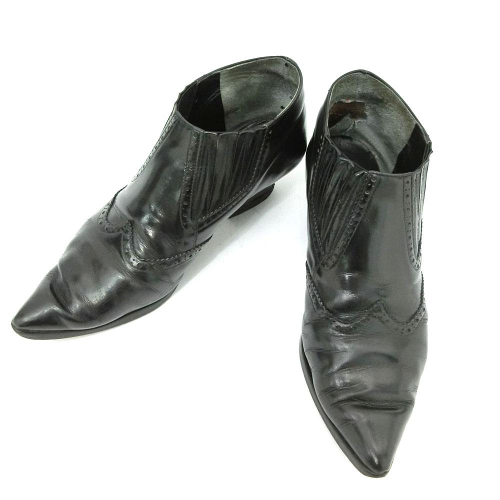 廃盤 Jean Paul GAULTIER ジャンポールゴルチエ 「3」 ウエスタンレザーブーツ (ゴルチェ 靴シューズ) 084957 【中古】