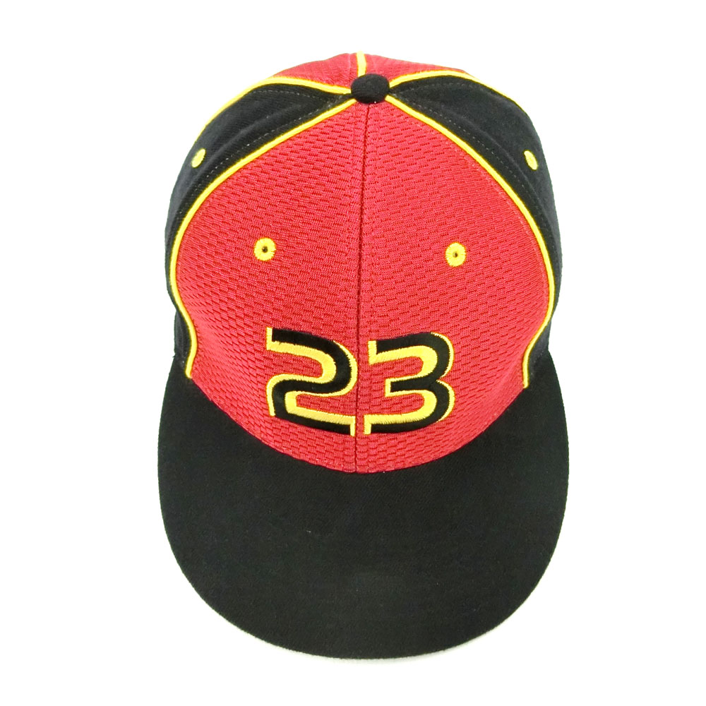 6fbe331a955 ... snapback hat one size a1e15 a64d3  uk nike air jordan nike air jordan 7  1 4 black red embroidered no.23