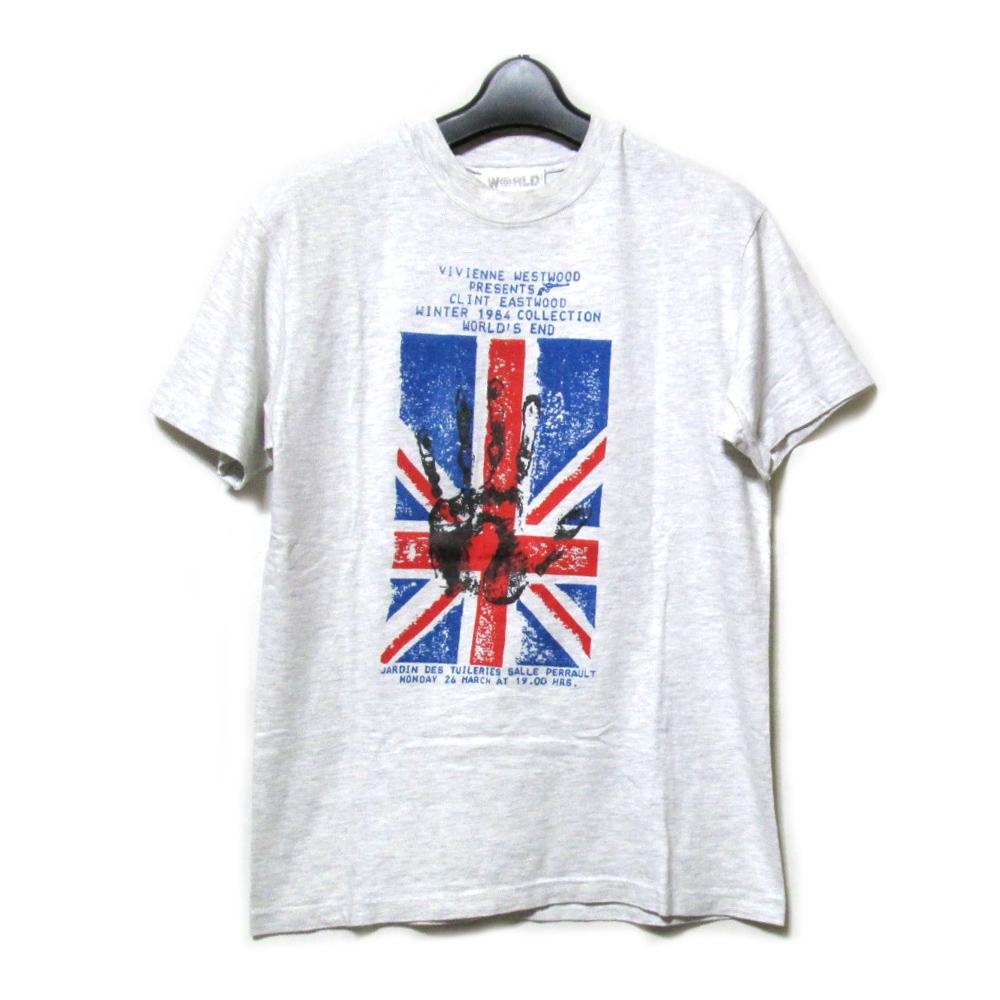 1984's Vintage WORLD CLASSICS Vivienne Westwood ヴィンテージ ヴィヴィアンウエストウッド ユニオンジャックTシャツ (英国製) 085972 【中古】