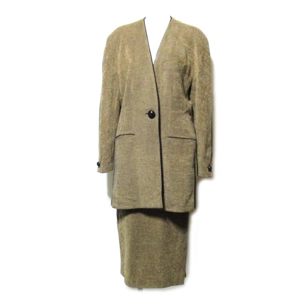 KRIZIA クリッツア 「9」 マオカラーデザインスカートセットアップスーツ (ジャケット) 089510 【中古】