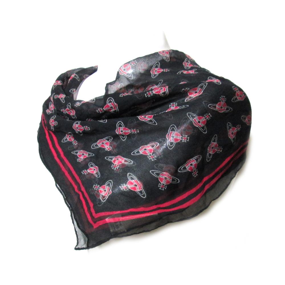 廃盤 Vivienne Westwood ヴィヴィアンウエストウッド オーブモノグラムシルクスカーフ 090900 【中古】