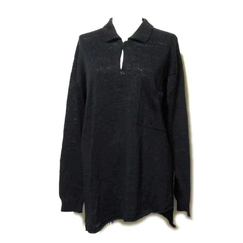 ヨーガンレール JURGEN LEHL 「M」 シルクニットポロシャツ (天然素材 草木染 絹 セーター) 092781 【中古】