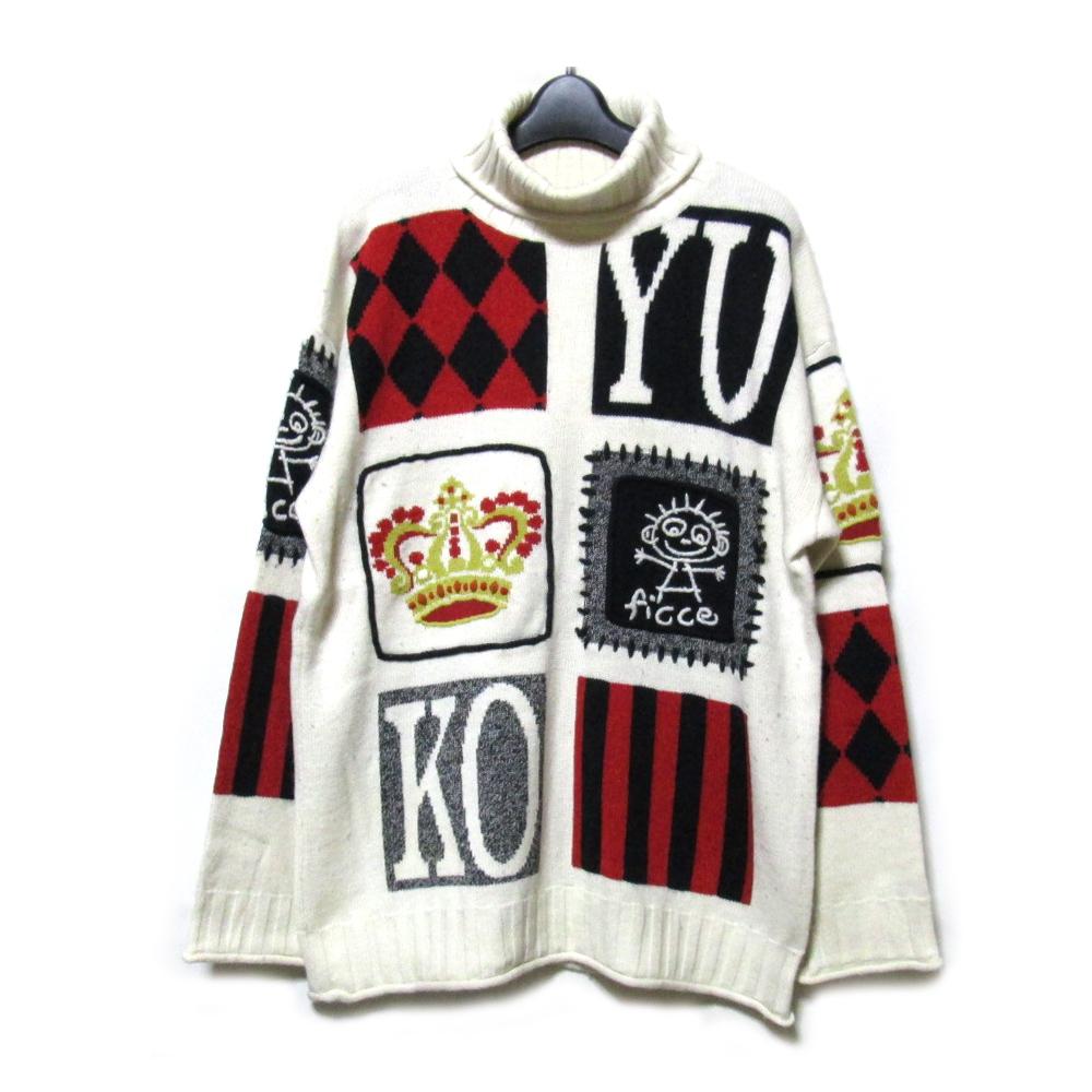 80's Vintage YOSHIYUKI KONISHI FICCE UOMO 80年代ヴィンテージ ヨシユキヨニシ フィッチェ ウォーモ アバンギャルドニットセーター (ドン小西) 093238 【中古】