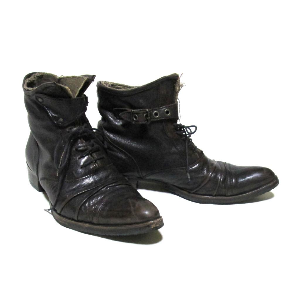 alfredoBANNISTER アルフレッド バニスター 「40」 アンティークレザーデザインブーツ (靴 シューズ) 097545 【中古】