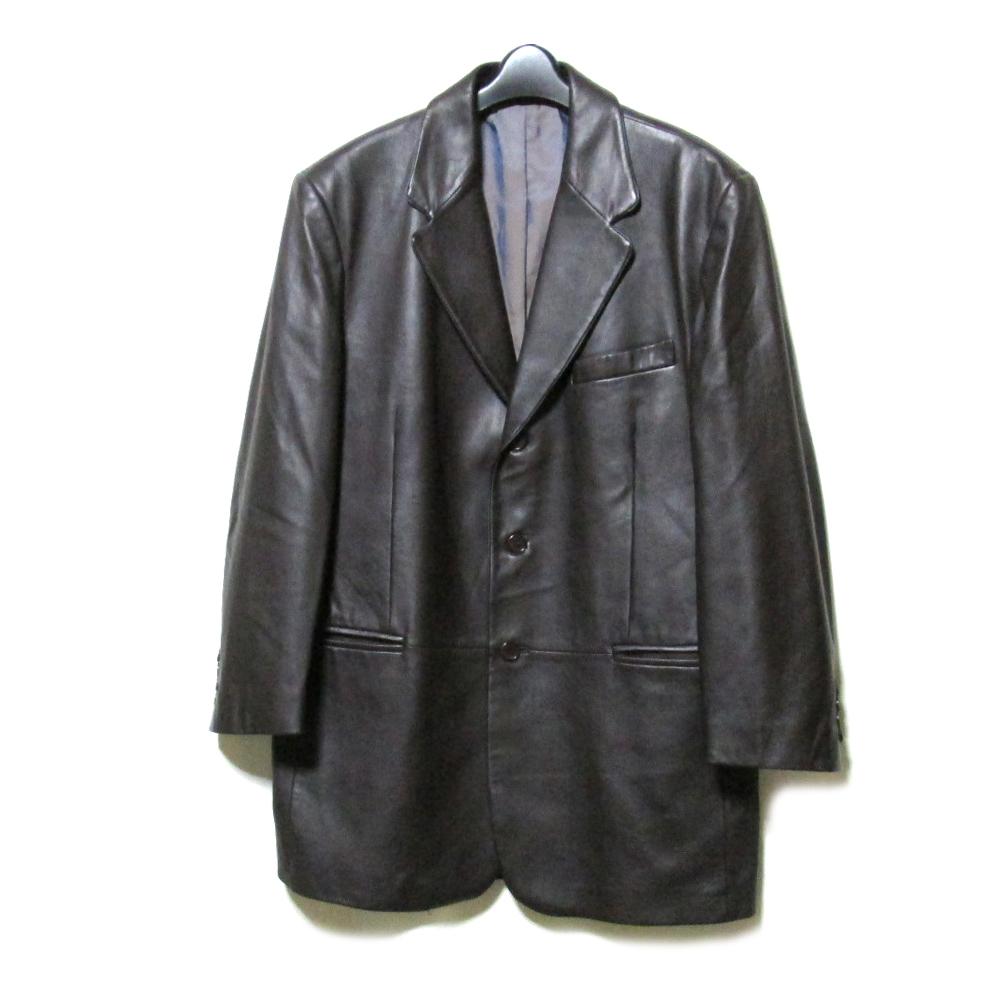 美品 VERRI ヴェリー 「54」 イタリア製 定番 3Bレザージャケット (革 皮 リアル) 098114 【中古】