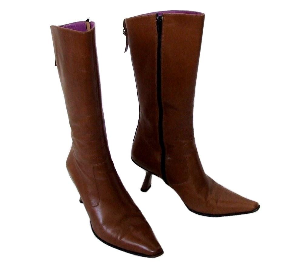 L'AutreChose ロートルショーズ 「37」 イタリア製 レザーロングヒールブーツ (靴 皮 革) 098181 【中古】