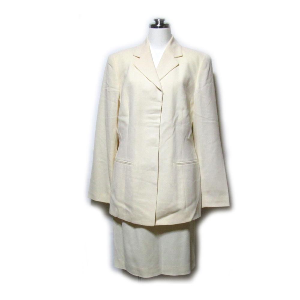 LUCIANO SOPRANI ルチアーノ ソプラーニ 「40」 セットアップスーツ (白 ベージュ スカート) 100270 【中古】