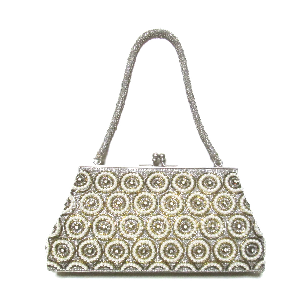 62f98452594a CROWN STORE - USED BRAND CLOTHING STORE  Che Che New York チチニューヨークビーズ  jewels and ornaments handbag (dress four circle party) 100914