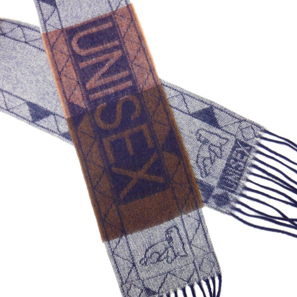 【新古品】 Vivienne Westwood UNISEX ヴィヴィアンウエストウッド ユニセックス スコットランド製 ラムウールロングマフラー 101359 【中古】