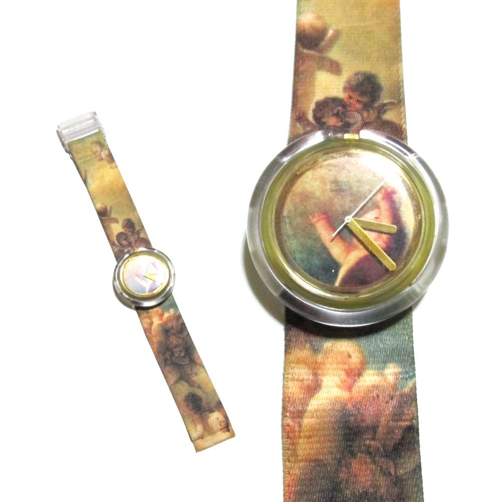 Vivienne Westwood×Swacth ヴィヴィアンウエストウッド×スウォッチ 限定 オーブパッケージプッティーウォッチ (腕時計 天使 ORB) 101468 【中古】