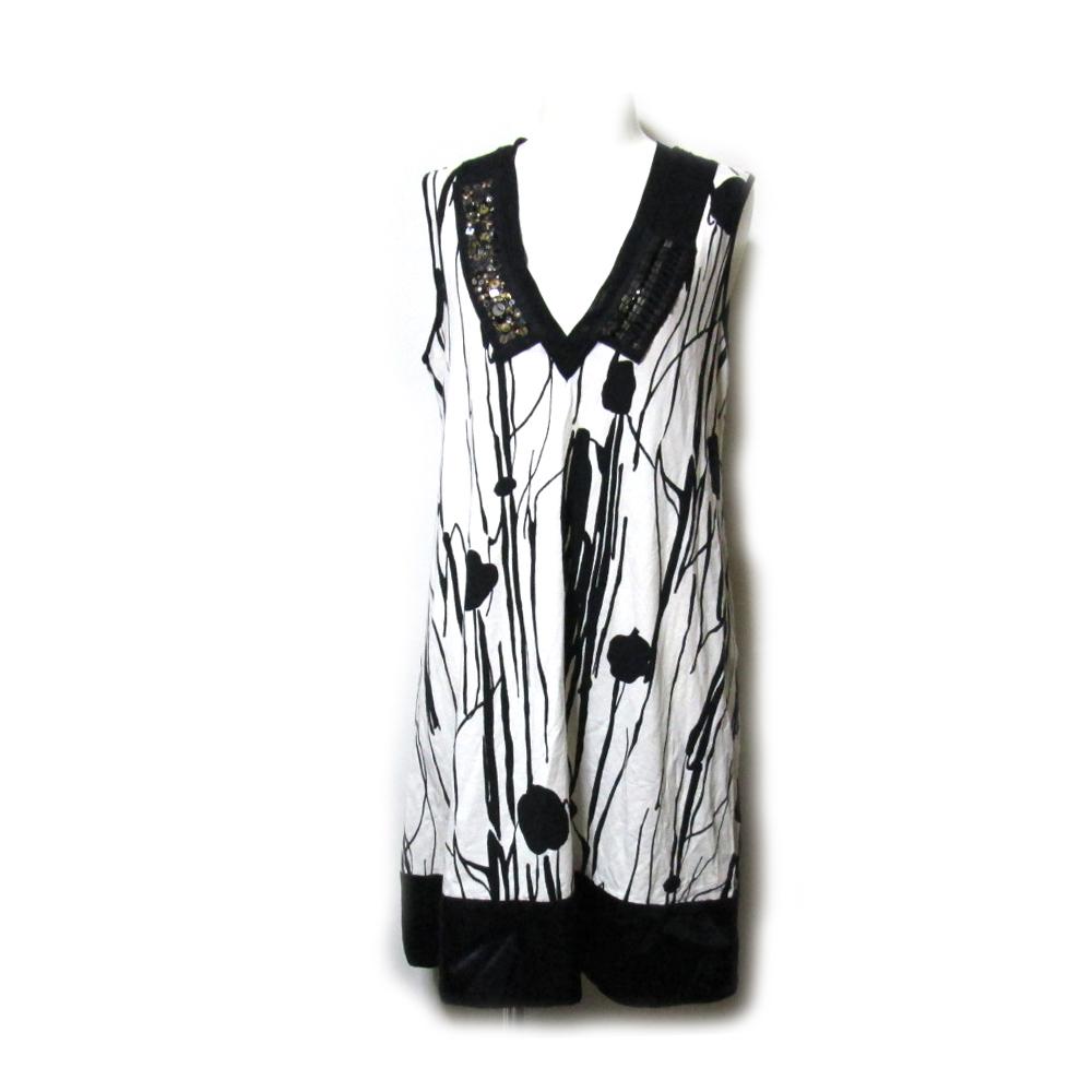 DONEY casa ドネー カーサ 「40」 宝飾デザインワンピース (ドレス Made in Japan 日本製) 102150 【中古】
