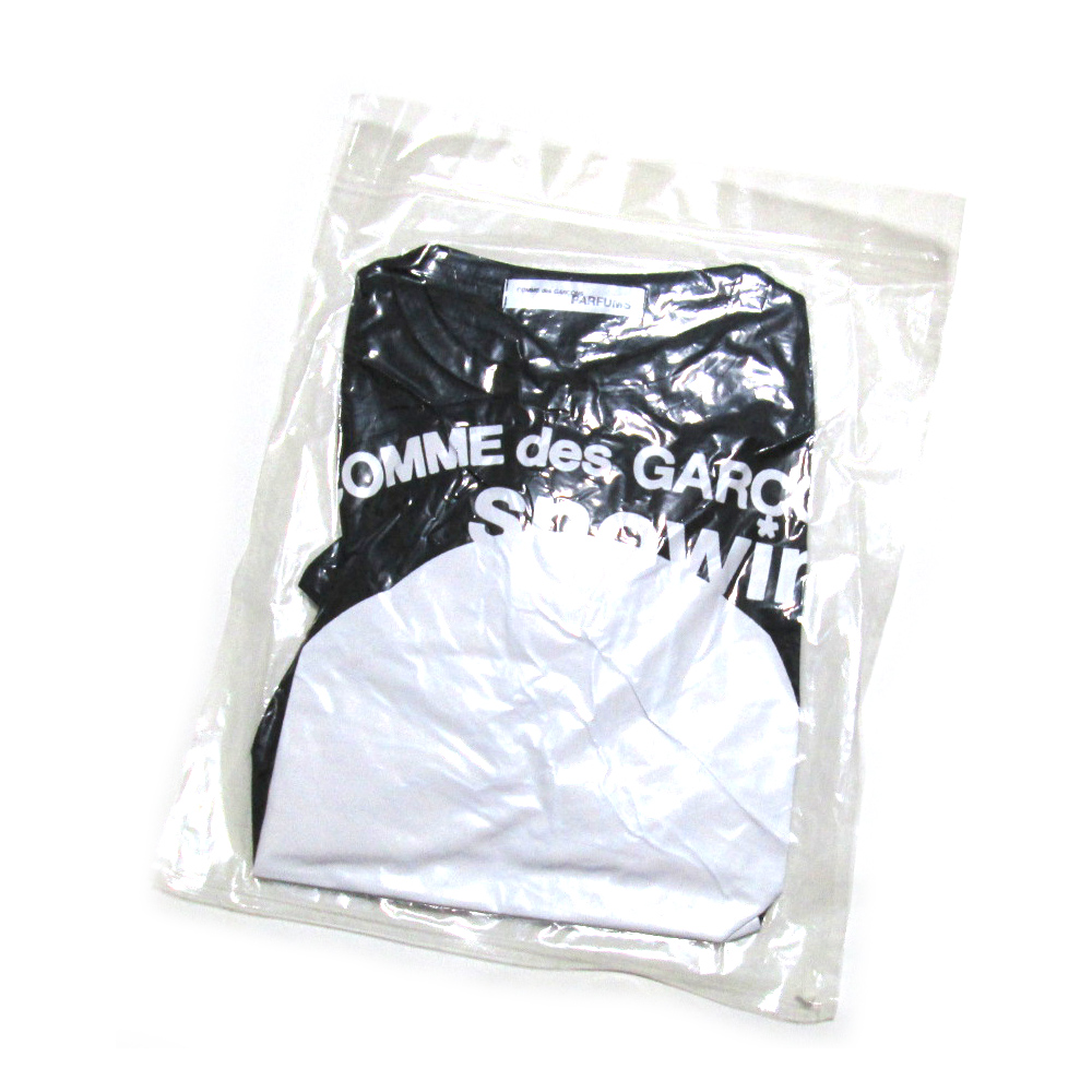 【未使用】 COMME des GARCONS PARFUMS コムデギャルソン パルファム スノーイングTシャツ (黒 半袖) 103986 【中古】